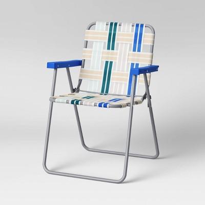 Webstrap Patio Folding Chair - Blue - Room Essentials™