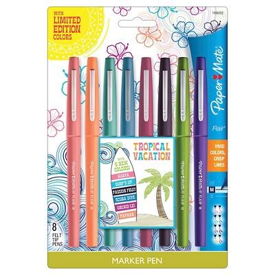 Paper Mate® Marker Pens, Medium Tip, 8ct - Multicolor Ink