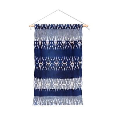 Schatzi Brown Mila Eye Stripe Indigo Wall Hanging Portrait Blue - Deny Designs
