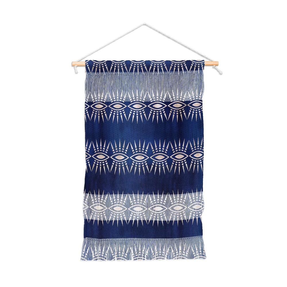 11x15.5 Schatzi Brown Mila Eye Stripe Indigo Wall Hanging Portrait Blue - Deny Designs