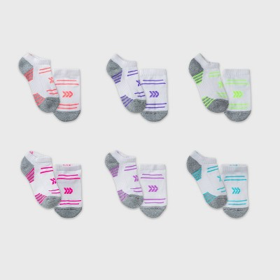 Kids' 6pk No Show Athletic Socks - All in Motion™ White