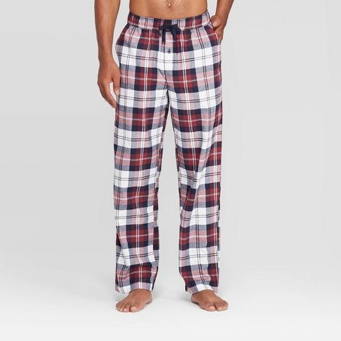 Men's Plaid Flannel Pajama Pants - Goodfellow & Co™ Burgundy - image 1 of 2