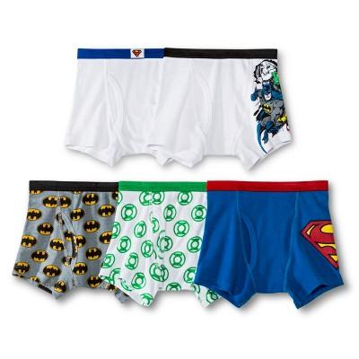 Boys' Justice League 5-Pack Boxer Briefs - Assorted 4