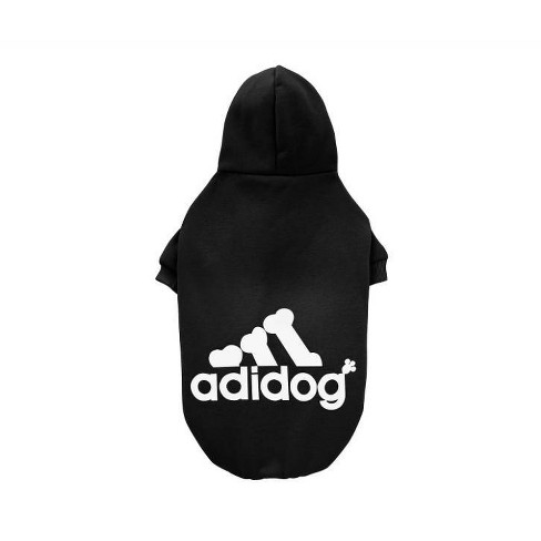 Fresh Pawz Adidog Logo Fleece Dog and Cat Hoodie - Black - image 1 of 1