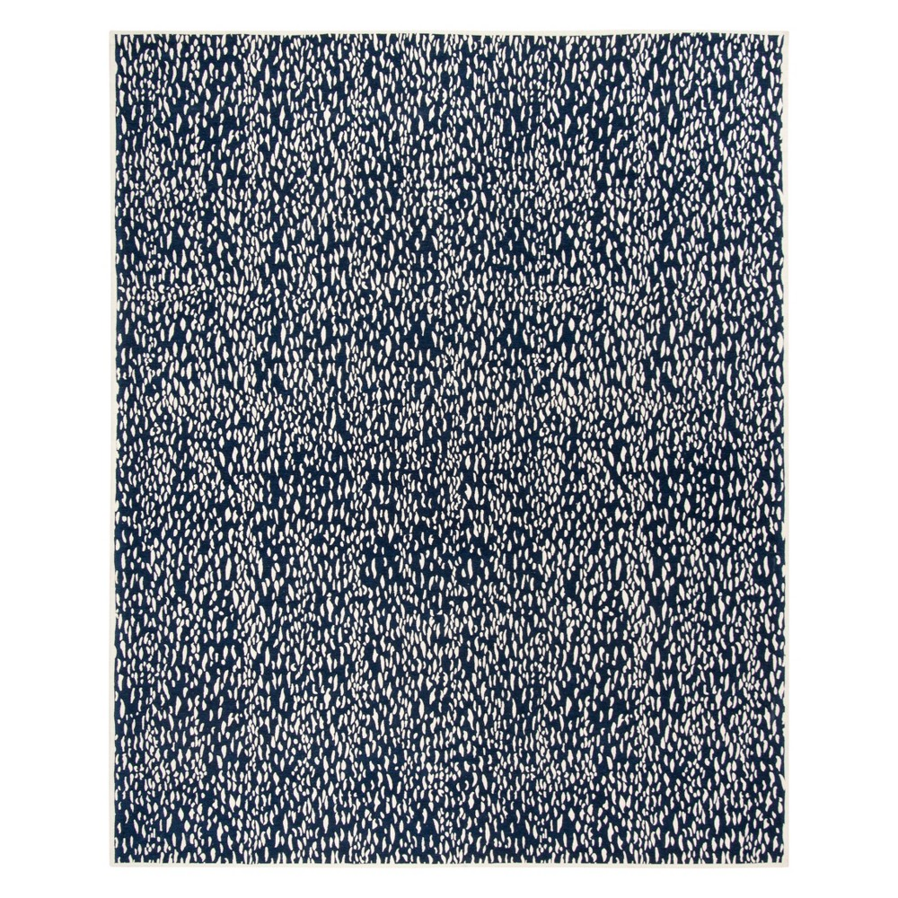 8'X10' Fleck Area Rug Navy Blue/Ivory - Safavieh