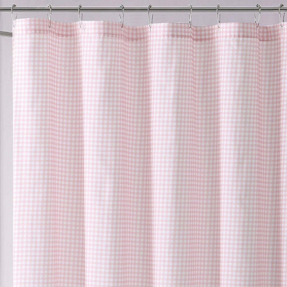 Image of Anytime Gingham Shower Curtain Pink - My World