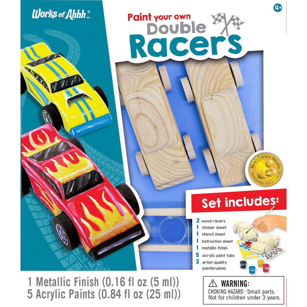 Image of Masterpieces 13pc Paint Your Own Double Racers Building Set