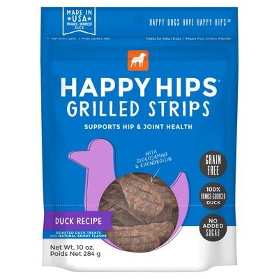 Happy Hips Grilled Strips Grain-Free Dog Treats - 10oz