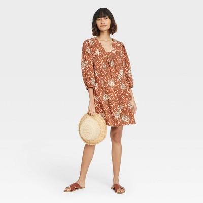 Women's Long Sleeve Shift Dress - Knox Rose™