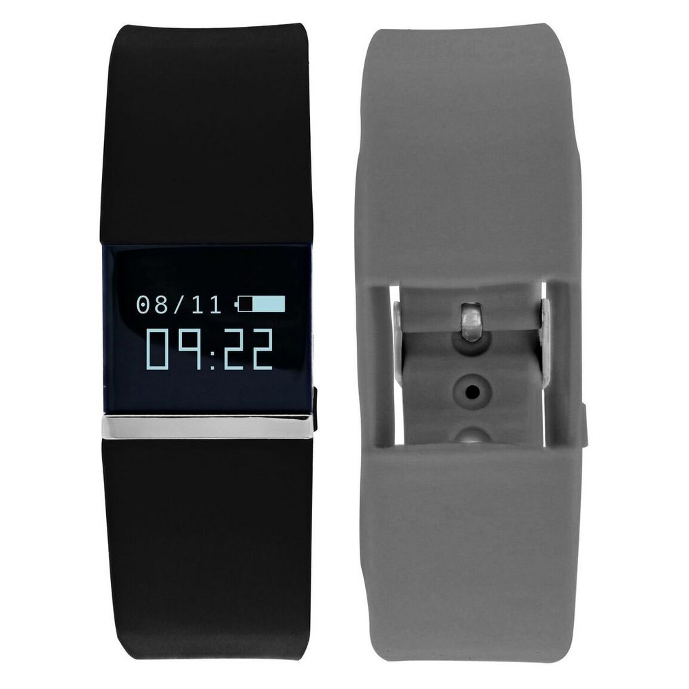 iFitness Pulse Activity Tracker - Black/Gray Designed for today's connected life, the iFITNESS Pulse Fitness Activity Tracker has you covered for every situation. Keep track of your fitness goals with the built in Heart Rate Monitor, Steps, Calories, Distance and Sleep trackers, while the Camera remote makes your leisure time more enjoyable. Notifications, and Sedentary Reminder have you covered while at work. Color: Black.