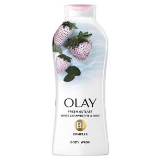 Olay Fresh Outlast Body Wash White Strawberry & Mint - 22 Fl Oz : Target
