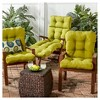 Solid Outdoor Seat/Back Chair Cushion - Kensington Garden - image 3 of 4