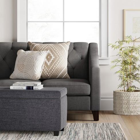 Double Storage Ottoman Dark Gray Room Essentials Target