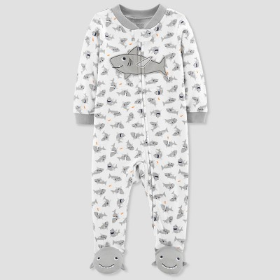 Baby Boys' Shark Cotton Sleep N' Play - Just One You® made by carter's Gray Newborn