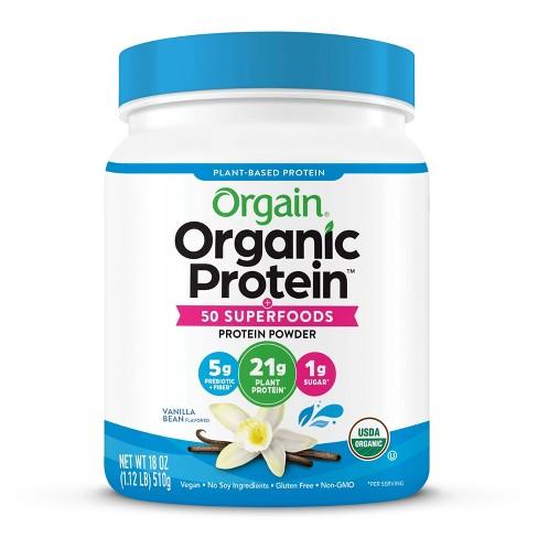Orgain Organic Vegan Protein & Superfoods Powder - Vanilla - 16oz - image 1 of 4