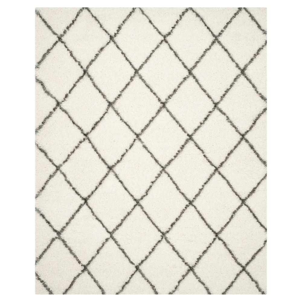 Ivory/Gray Abstract Loomed Area Rug - (8'X10') - Safavieh