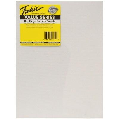 Fredrix Value Series Cut Edge Canvas Panel, 8 x 10 Inches, White, pk of 25
