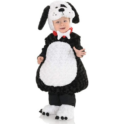 Underwraps Costumes Belly Babies Black And White Puppy Plush Child Toddler Costume