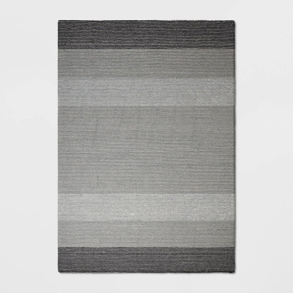 7'X10' Stripe Loomed Area Rug Gray - Threshold