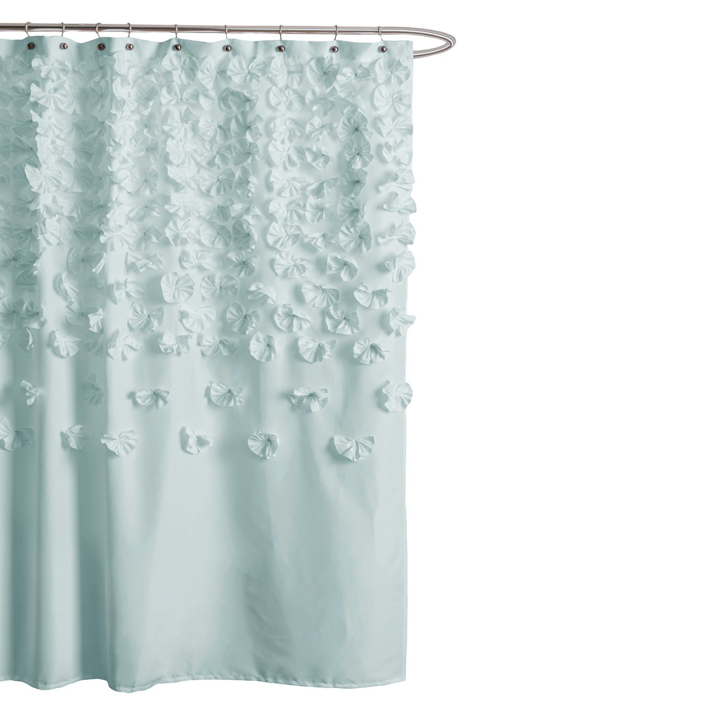 Lush Decor Lucia Scattered Flower Texture Shower Curtain - image 1 of 1