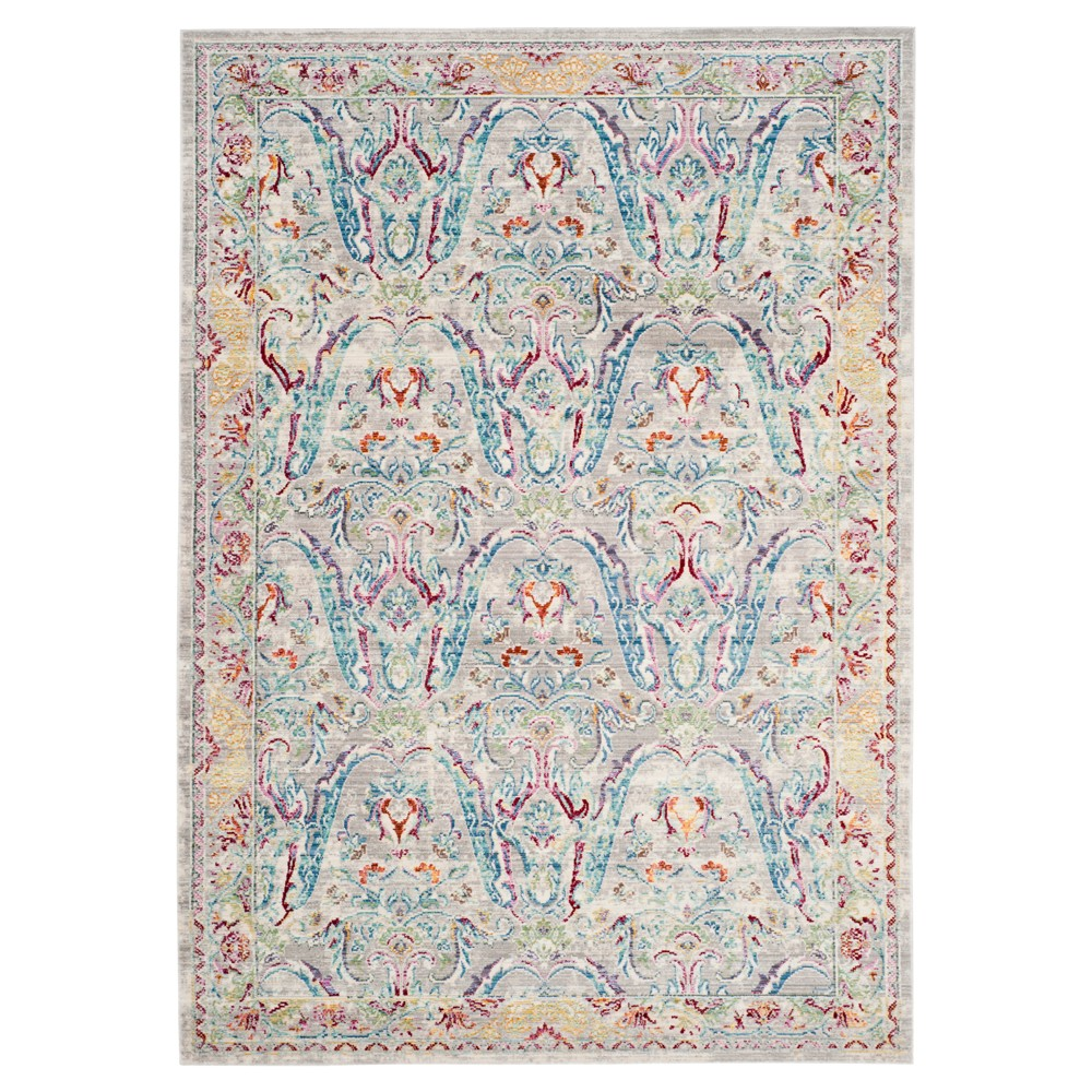 Gray Blue Floral Loomed Area Rug 8'x10' - Safavieh