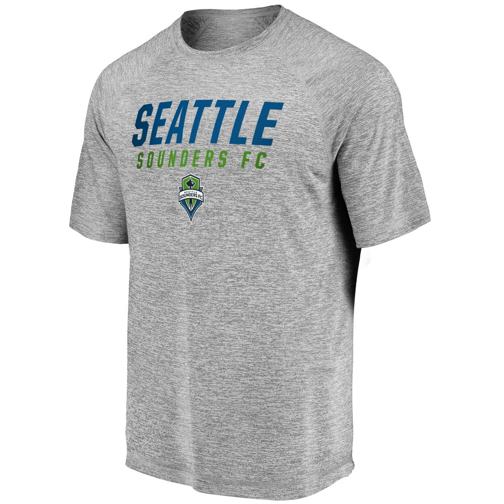 Mls Men's SS Gray Performance T-Shirt Seattle Sounders - S