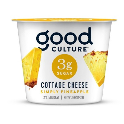 Good Culture Pineapple 3g Sugar Cottage Cheese - 5oz