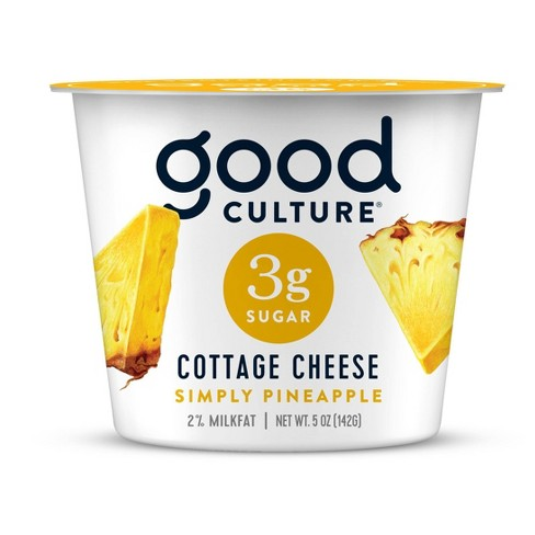 Good Culture Pineapple 3g Sugar Cottage Cheese - 5oz - image 1 of 3