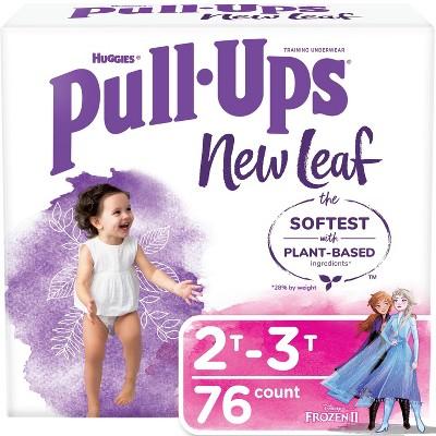 Huggies Pull Ups New Leaf Girls' Training Pants - Size 2T-3T - 76ct