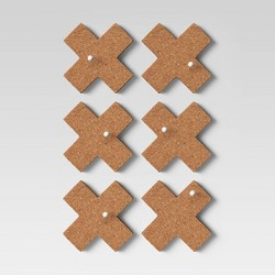 Cork Plus Signs Removable Wall Decal Light Brown - Room Essentials™