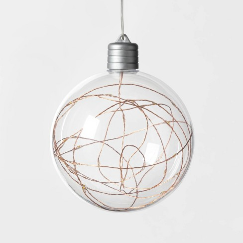 Christmas LED Clear Sphere with 30 Dew Drop String Lights Warm White with Copper Wire - Wondershop™ - image 1 of 3