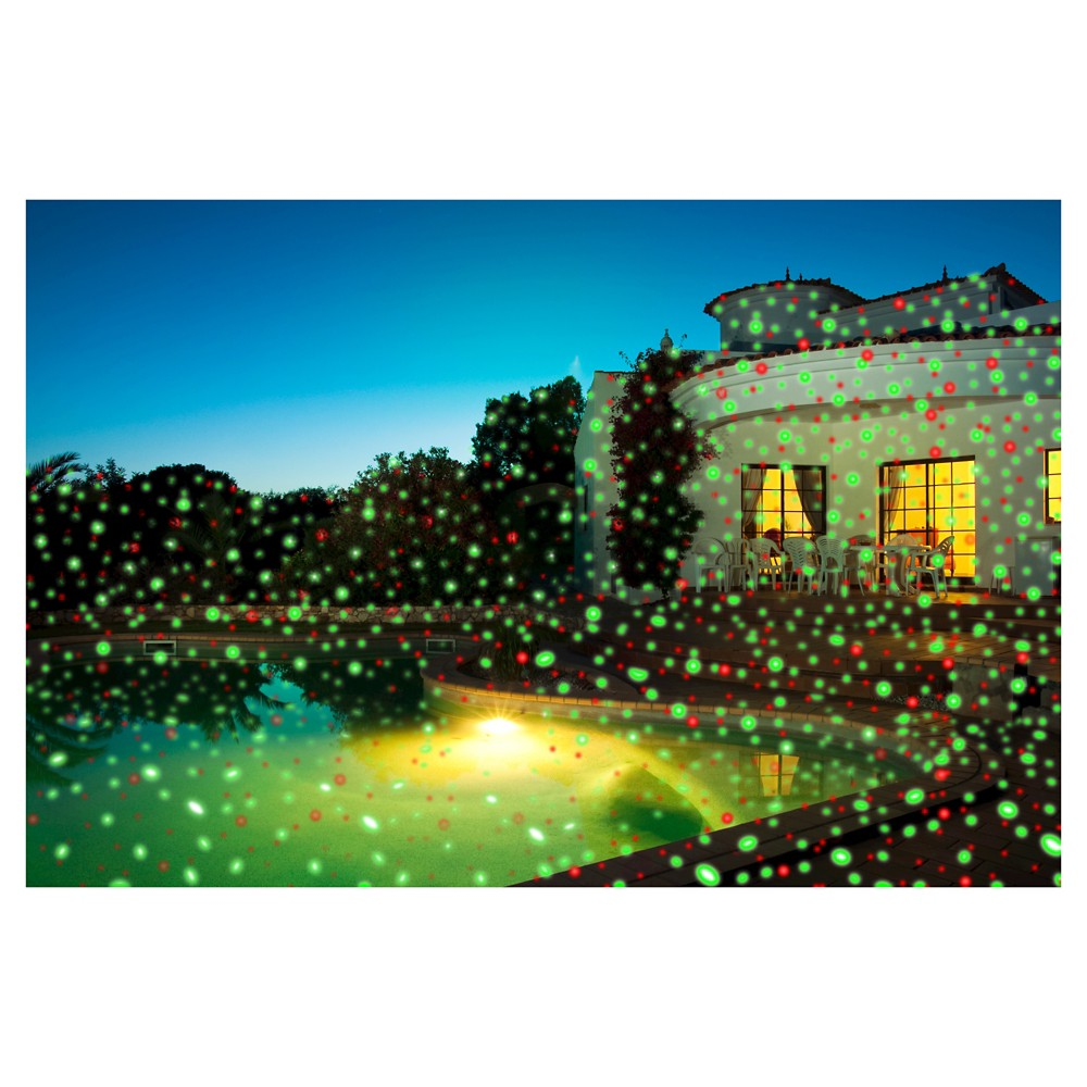 Image of Viatek Night Star Landscape Lighting Premium Series - Red and Green Lasers with Spotlight, Black