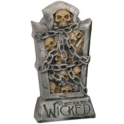 "24"" No Rest for the Wicked Tombstone - Sunnydaze Decor"
