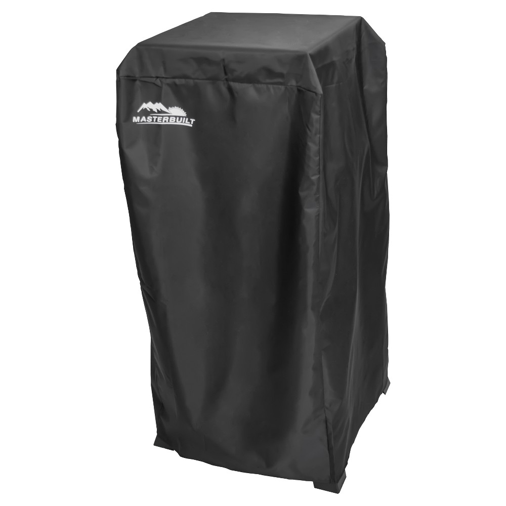 30  Propane Smoker Cover - Black - Masterbuilt Protect your Masterbuilt 30  Propane Smoker with this cover. The durable, polyurethane-coated cover protects your smoker from the elements year-round.  It's weather-resistant and resists fading. Color: Black.