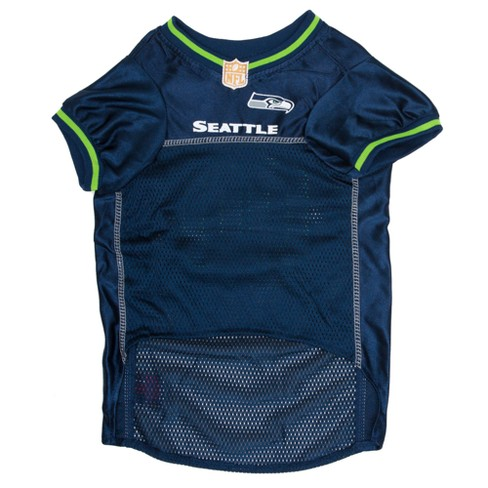 Seattle Seahawks Pets First Mesh Pet Football Jersey - Navy XS   Target f92ab522f