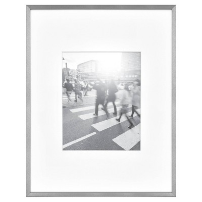 Thin Gallery Matted Photo Frame Silver - Project 62™