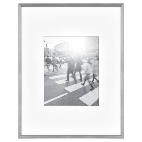 Thin Gallery Matted Photo Frame Silver - Project 62™ - image 1 of 4