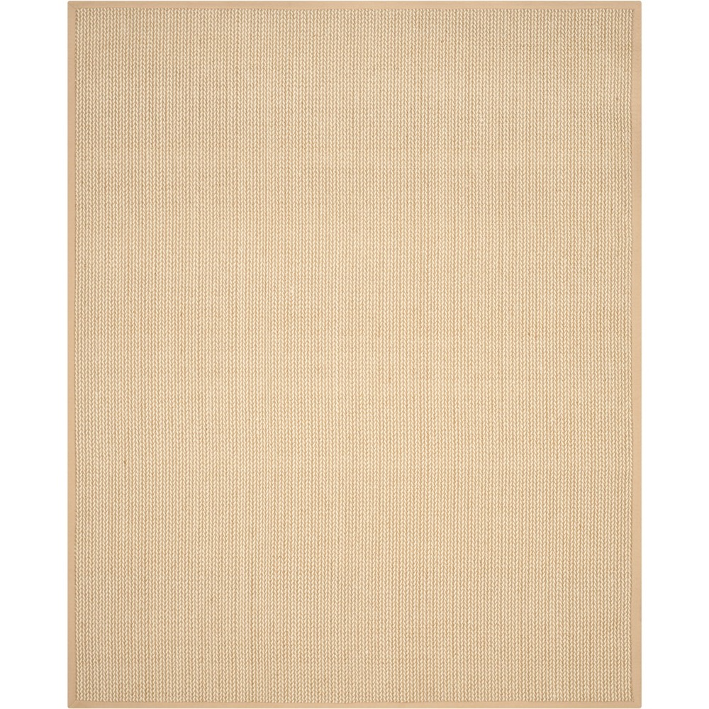 Solid Loomed Area Rug Beige/Light Gray