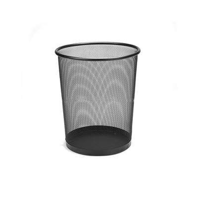 Mind Reader Mesh Garbage Waste Basket Recycling Bin Set, Round