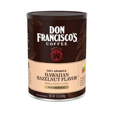 Don Francisco's Hawaiian Hazelnut Flavor Medium Roast Ground Coffee - 12oz