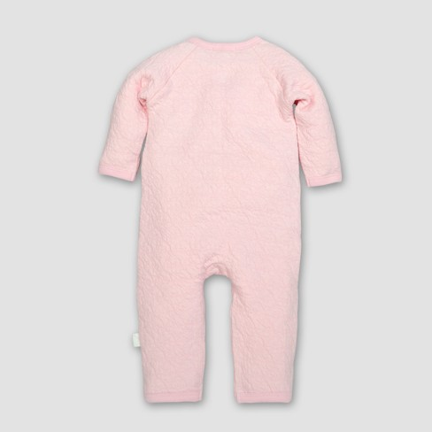 Burt s Bees Baby® Girls  Organic Cotton Quilted Bee Kimono Coverall -  Blossom 0-3M   Target 9e0a097238cf