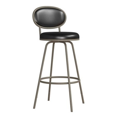 Rollins Oval Upholstered Back Metal Adjustable Barstool Champagne Gold - Hillsdale Furniture