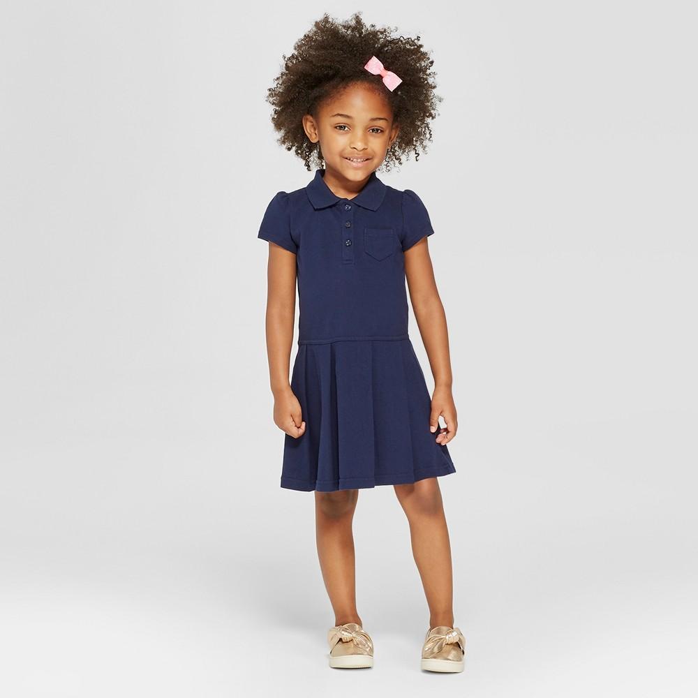 Toddler Girls' Uniform Tennis Uniform Shirtdress - Cat & Jack Navy 4T, Blue