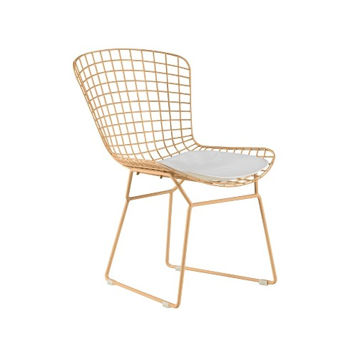 Set of 2 Holly Wire Chair - Adore Decor - image 1 of 4