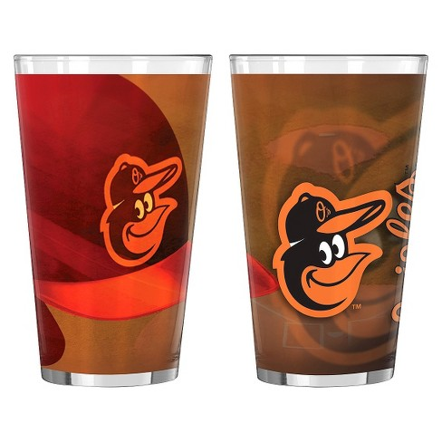 Boelter Brands MLB Baltimore Orioles Set of 2 Shadow Pint Glass - 16oz - image 1 of 1