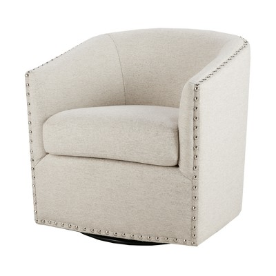 Sheldon Swivel Chair - Natural Multi