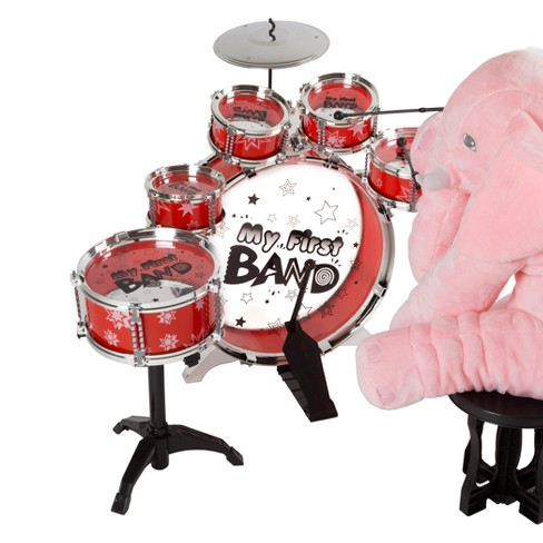 Hey Play Toddlers Kids Toy Drum Set 7pc Target