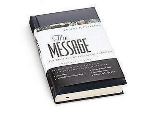 Message : The Bible in Contemporary Language : Numbered Edition : Blue Leather (Hardcover) - image 1 of 1