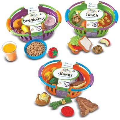 Learning Resources New Sprouts Breakfast, Lunch & Dinner Basket Bundle