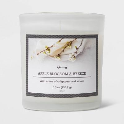 5.5oz Glass Jar Apple Blossom and Breeze Candle - Threshold™